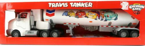 "The Chevron Cars ""Travis Tanker"" Toy Plastic Semi Truck With Box New In Box"