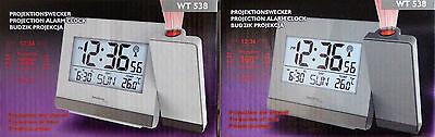 TECHNOLINE Projektionswecker WT 538 Projektions-Funkuhr Datum Temperatur / NEU!
