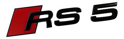 Original Audi Black Edition RS4 8E 8K 8W B8 B9 Emblem Schriftzug Schwarz Hinten