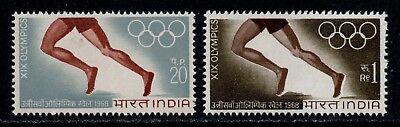 India Scott 471-472  19th Olympics Games at Mexico City MNH L1