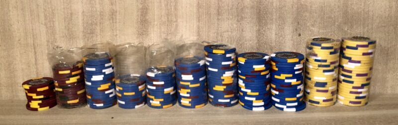 201 Pieces•Las Vegas Poker Room•$5•$50•$1000•Poker Chips•13 Gram•Brand New/Open