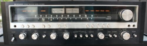 Vintage Pioneer SX-5590 Stereo Receiver - Black Face & Cover SX-1250 - 160 WPC!