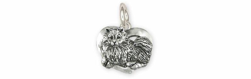 Keeshond Jewelry Sterling Silver Handmade Keeshond Charm  KSH1-C