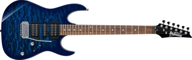 Ibanez GRX70QA-TBB Transparent Blue Burst Electric Guitar