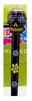 Resin Day Of The Dead Sugar Skull Design Ink Pen Novelty