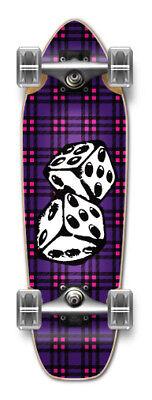 COOL DICE Graphic Complete Longboard Mini Cruiser Skate ()