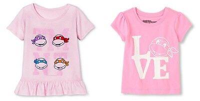 Nickelodeon Teenage Mutant Ninja Turtles Toddler girls T-Shirts 2T 3T 4T 5T - Toddler Girl Ninja Turtle Shirt