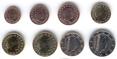 Luxembourg 2007 - Set of 8 Euro Coins (UNC)