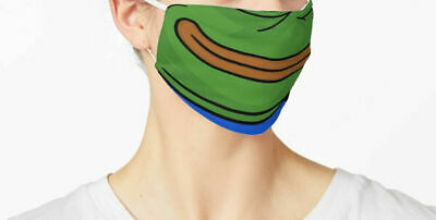 Pepe The Frog Smile Mask Fabric Face Mask, Honkler Reusable Washable Cover Mask