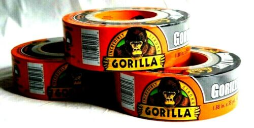 "Gorilla Glue Black Gorilla Tape 1.88"" x 35 yd (Pack of 3) New"
