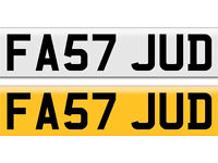 Cherished Reg FA57 JUD - open to offers