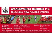 Wandsworth Borough Football Club: Recruiting New Players