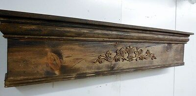 Rustic Fireplace Mantle, Distressed Mantle, Primitive Mantle, 72 inch mantle