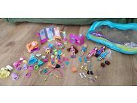 Polly Pocket Fashion and Dog Set + Extra dolls