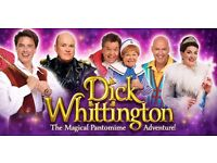 2 x tickets to Dick Whittington Pantomine Birmingham Hippodrome Friday 27th January 2pm
