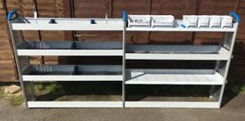 Van Racking / Shelving - SORTIMO - 6 Shelves - 6 Storage Boxes - V G Condition