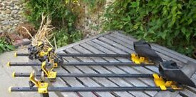 pair of bike carriers for mounting on roof rack X Bars. Used and a bit scruffy but sound