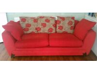 Red 3 seater sofa - free to anyone who can collect