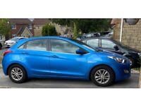 Hyundai i30 blue 1.6 low mileage £0 tax
