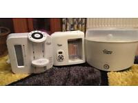 Tommee tippee prep machine, tommee tippee steamer/blender and steriliser