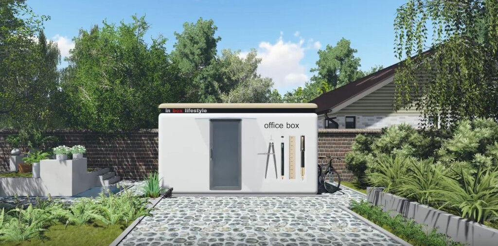 Living box summer house pod garden office studio for Garden office gym