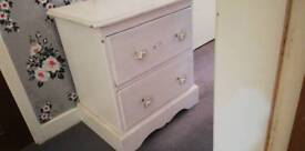 Painted pine bedside cabinet very good quality