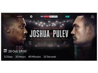 Anthony Joshua vs Carlos Takam GROUND boxing ticket Cardiff