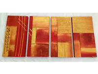 Original Modern Contemporary Acrylic and Oil Abstract Canvas Art Painting