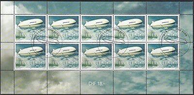 SCHWEIZ, 2004 Zeppelin NT 1879 Kleinbogen gestempelt, (18280)
