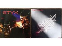 2 x Brand new 180 gram Vinyl Styx albums