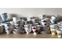 Vintage Assorted China Tea Sets, Ideal for Wedding, Afternoon Tea or Tea Shop