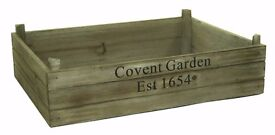 Natural Brown Covent Garden Vintage Wooden Storage Display Apple Crate Box