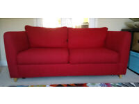 Marks and Spencers Frida Sofa Bed Red