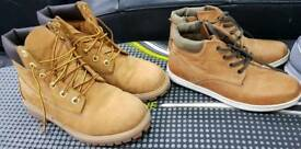 Boys size 4 Timberland boots, next boots, nike and adidas trainers