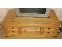 Mexican Corona Solid Pine Large TV Unit