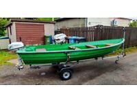 15Ft Fishing Boat With 5Hp Honda 4 Stroke