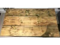 Rustic wood coffee table top (without legs) for sale