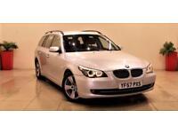 BMW 5 SERIES 3.0 530D SE TOURING 5d AUTO 232 BHP + AIR CON + AUX + BLUETOOTH (silver) 2008