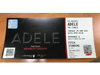 ADELE Thursday 29th June - £185 (paper ticket, 100% genuine). General Entry (Standing).