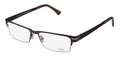 NEW OGI 4009 MASCULINE DESIGN HALF-RIMLESS CLASSY EYEGLASS (Designer Rimless Eyewear)