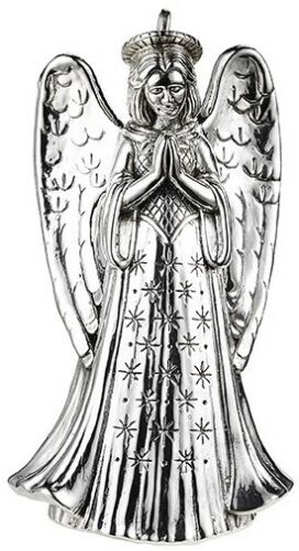 JT Inman Sterling Silver Annual Angel of Adoration Ornament 2019 NIB Retail $220