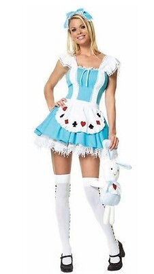 Alice In Wonderland, Womens Fancy Dress Costume - Size Small (AU 8 10)