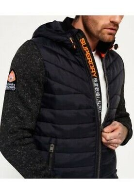Superdry Men's Storm Hybrid Shell Hoodie Jacket Black Size L