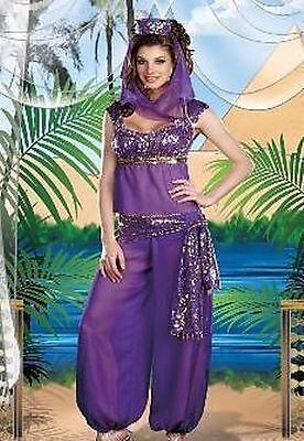 Fancy Dress Arabian Nights (WOMENS FANCY DRESS BELLY DANCER JASMINE ALADDIN ARABIAN NIGHTS PRINCESS)