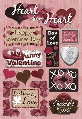 Valentine Day Crafts (Scrapbooking Crafts KF Stickers My Heart Happy Valentine's Day Chocolate)