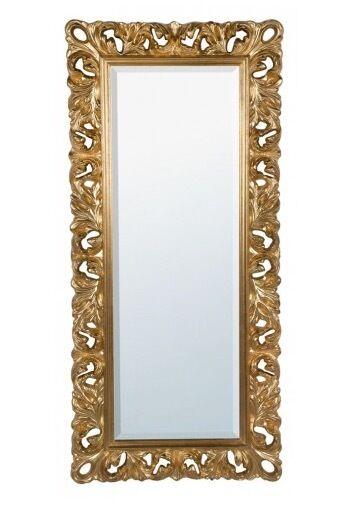 Baroque antique gold floor mirror full length large gold for Large gold floor mirror