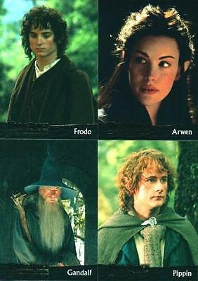 LORD OF THE RINGS FELLOWSHIP OF THE RING SET OF 90 CARDS (USA TOPPS SET)