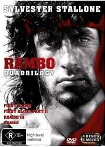 RAMBO First Blood Quadrilogy I 2 3 4 : NEW DVD