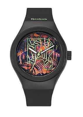 Icon Analogue Watch - Reebok Icon Vibrant Foliage Women's Analog Watch Black RC-IVF-L2-PBIB-XX