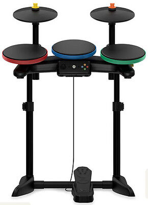 New Xbox 360 Guitar Hero Warriors Of Rock Band Drum Kit Set Drums Cymbals Pedal